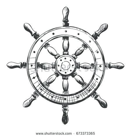 boat steering wheel drawing ship steering wheel drawing at getdrawings free for