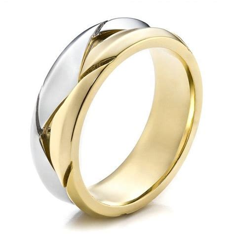 Men's Braided Two Tone Wedding Band     Joseph Jewelry