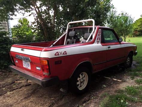 jf2an53b8ge455466 bidding ended on 1986 red subaru gl awd autobidmaster 1980 subaru brat gl standard cab pickup 2 door 1 6l