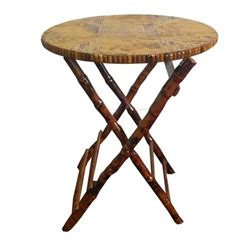 Folding Cing Table And Stools by Bamboo Table