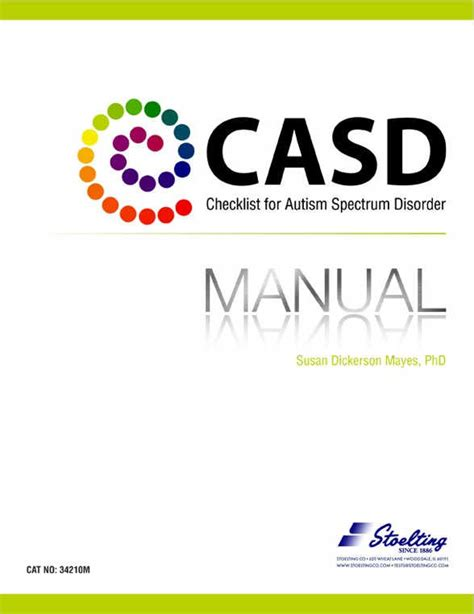casd checklist for autism spectrum disorder kit 34210