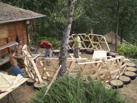 pedane chep diy wooden dome built from pallets