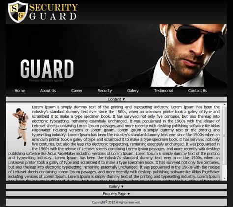 free program free security guard website template