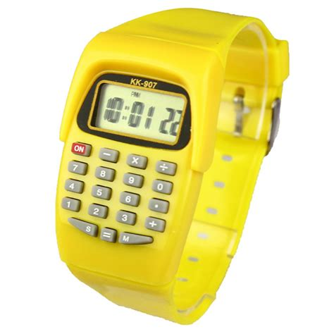 cheap mini calculator led digital relogio clock