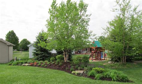 backyard berm evergreen berm google search garden design pinterest perennial gardens