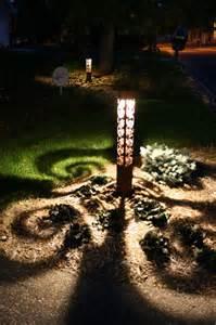 Swirls 4x4 bollard by driveway eclectic landscape minneapolis