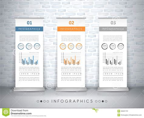 Exhibition Concept Infographic Template Design Stock Vector Image 48401731 Exhibition Panel Design Template
