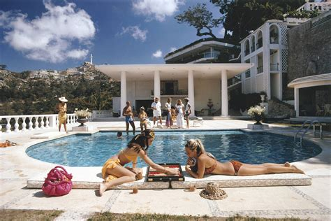 Hotel Du Cap Eden Roc by Slim Aarons Poolside Backgammon Aarons Estate Edition