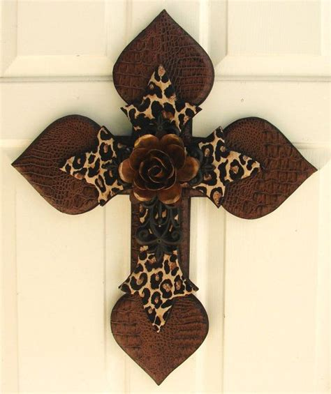 Decorative Instincts At Etsy by Dc046 Brown Black Stacked Cross With Copper