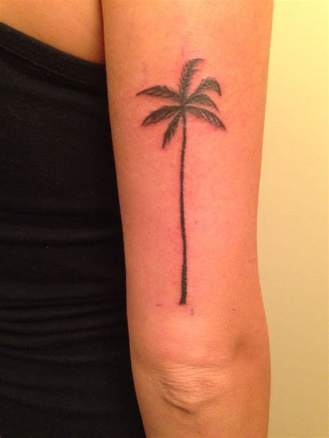 palm tattoo my new palm tree tattoos