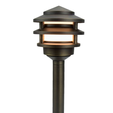 volt landscape lighting premier pagoda brass low voltage landscape lighting
