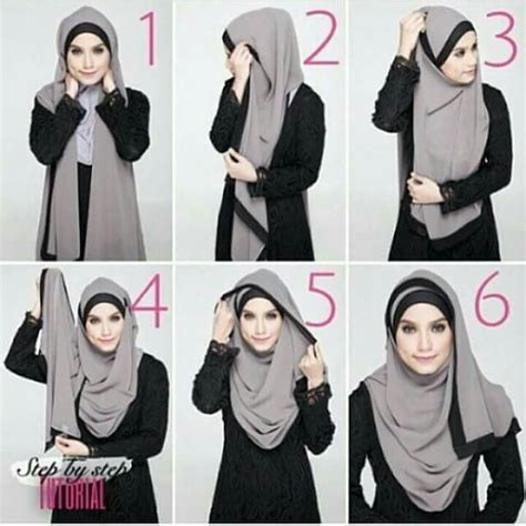 Jilbab Khimar Catleya 8 17 best images about style on simple tutorial pashmina tutorial