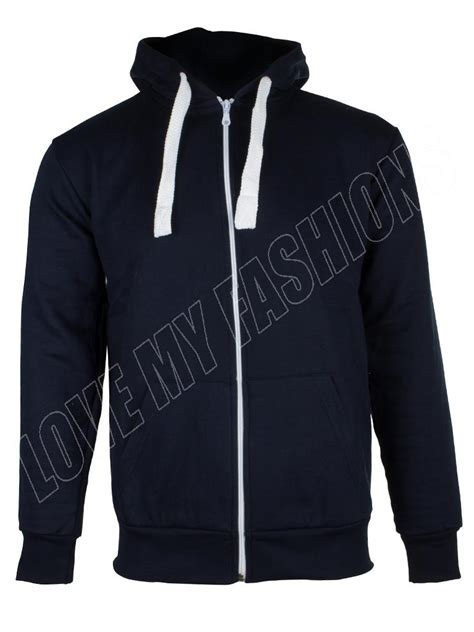Hoodie M new mens plain marl patched zip fleece hoodie hoody sweatshirt size s m l xl ebay