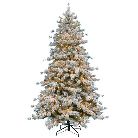 donner blitzen christmas ttrees donner blitzen incorporated 7 5 pre lit artic snow pine with 500 clear lights shop your way