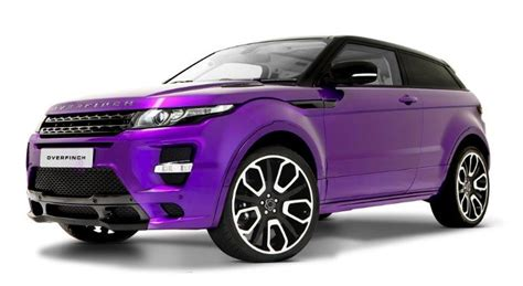 range rover purple purple overfinch evoque gts at goodwood autoevolution