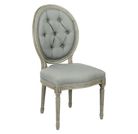 Oval Dining Chair Pair Madeleine Oval Tufted Green Linen Dining Chair Kathy Kuo Home