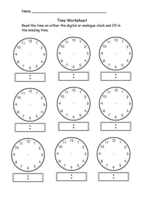 free printable clock games blank clock worksheet to print activity shelter