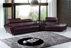 Modern Brown Leather Sofa Modern Top Grain Brown Leather Sofa Vg029 Leather Sectionals