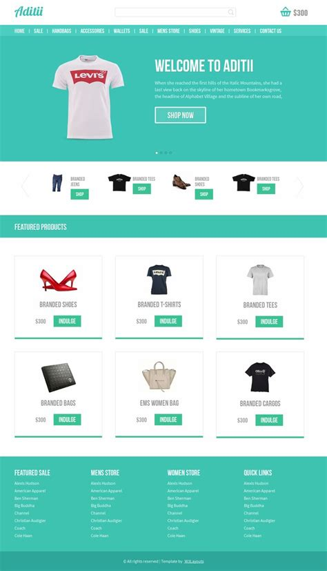 Free Template Ecommerce With Responsive Design Free Ecommerce Html Template