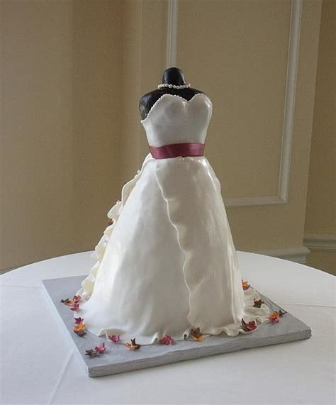 dress cake bridal shower dress cake with miniature fall or autumn