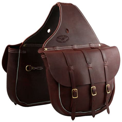 saddle bag cavalry style leather saddle bags three buckle burgundy outfitterssupply