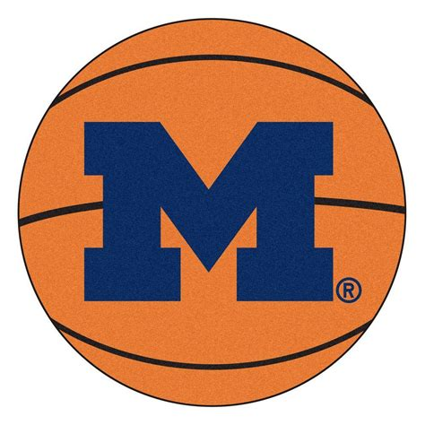 of michigan rug fanmats ncaa of michigan orange 2 ft 3 in x 2 ft 3 in accent rug 3404 the