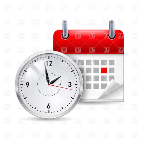 Calendar Clock Time Icon With Calendar And Clock In Front Of It Vector