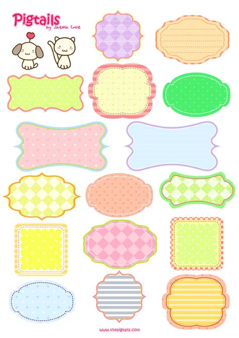 printable label paper pigtails scrapbook background and tags printable tags