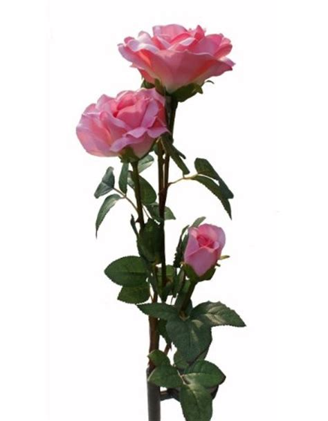Solar Pink Rose Flower Lights Solar Powered Garden Novelty Solar Garden Lights