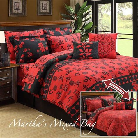red queen comforter details about asian oriental sakura cherry blossom black