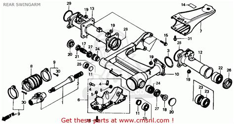 1986 honda fourtrax 350 parts honda trx350 fourtrax 4x4 1986 usa rear swingarm