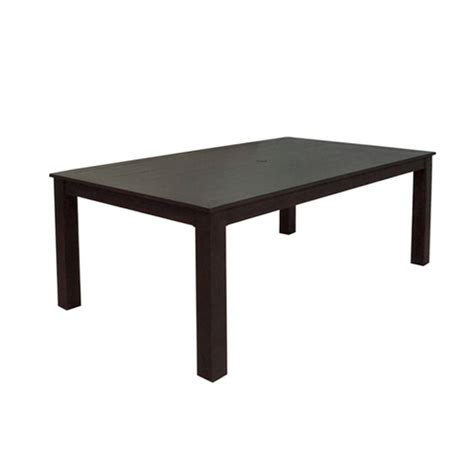 Patio Table Lowes Allen Roth Aluminum Dellinger Rectangular Patio Table From Lowes Dining Outdoor Furniture