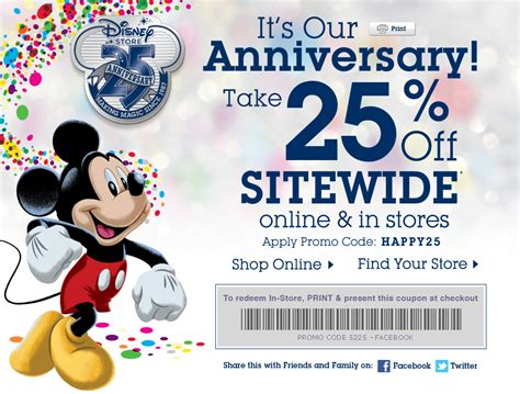 disney outlet printable coupons disney store 25 off online or instore 3 28 12 crock pot
