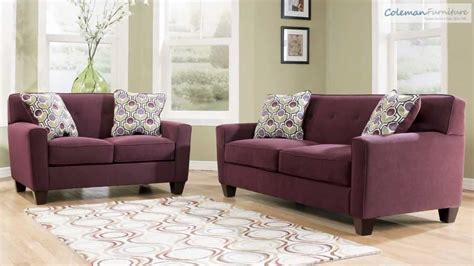 eggplant sectional sofa danielle eggplant living room collection from signature