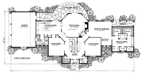 french country floor plans french country manor 43034pf architectural designs