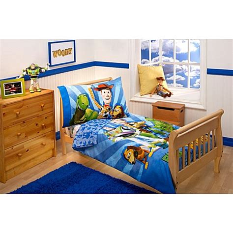 bed bath and beyond kids bedding disney buzz woody and the gang 4 piece toddler bedding