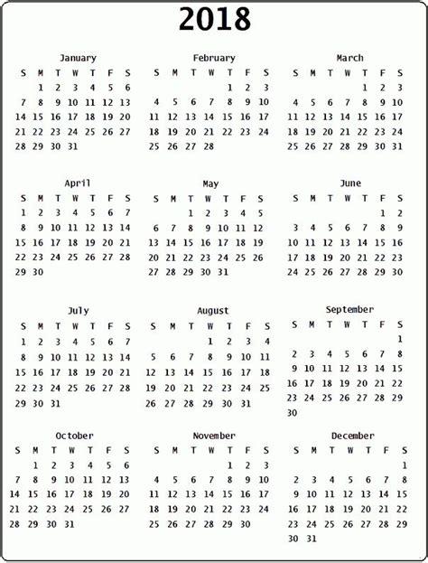 printable calendar january 2018 word 2018 printable calendar word 2018 yearly calendar