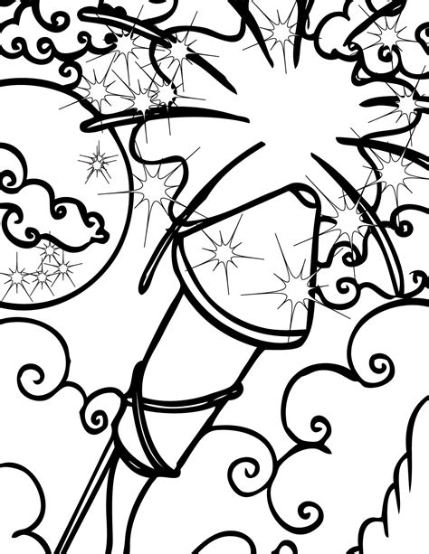 Firework Coloring Pages free printable fireworks coloring pages for