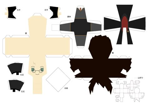 Harry Potter Papercraft - harry potter template by zenturtle651692 on deviantart