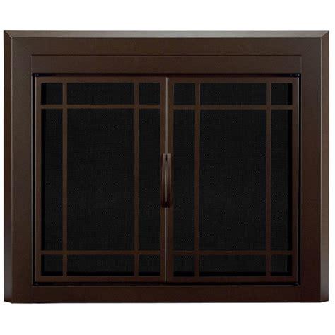 pleasant hearth enfield small glass fireplace doors en