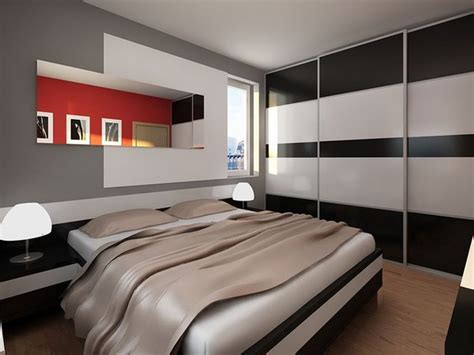 modern male bedroom modern mens bedroom with monochrome wall closet