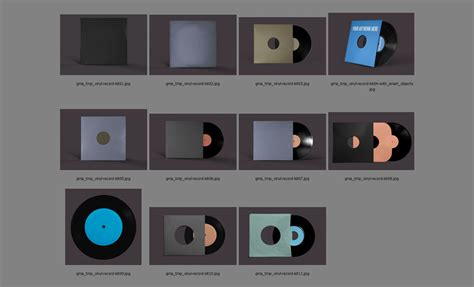 Records Us Photoshop Vinyl Records Mockup Template Pack