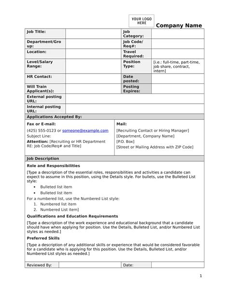 description form 14 description forms free pdf format