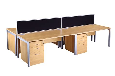 New Office Desks Bench Desking Beech City Used Office Furniture
