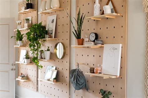 Ikea Entryway by Giant Pegboard Diy Fresh Homestyle