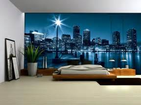 Wall Murals City wallpaper mural city by night fleece photo wallpaper wall murals