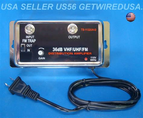new 36db cable tv antenna inline booster coax signal lifier with gain ebay