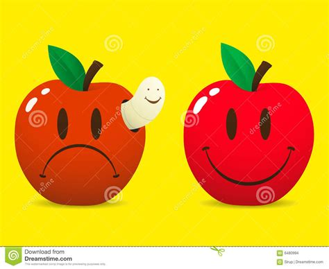 imagenes de amor triste y feliz smiley feliz y manzana triste imagenes de archivo imagen