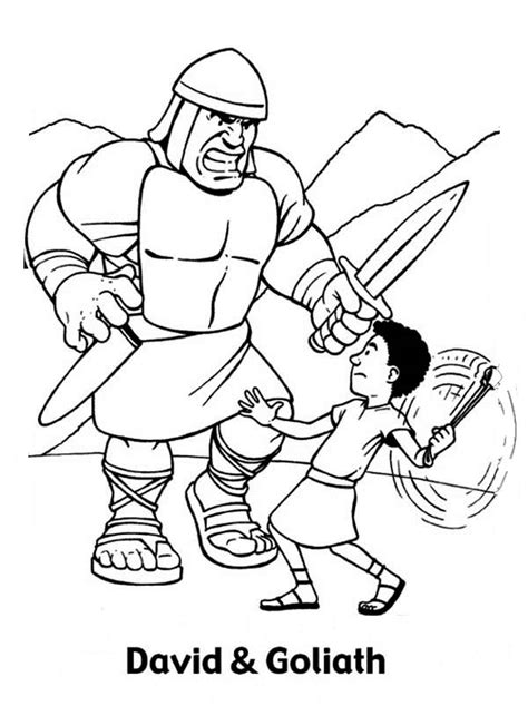 preschool coloring pages david and goliath david and goliath coloring pages to download and print for