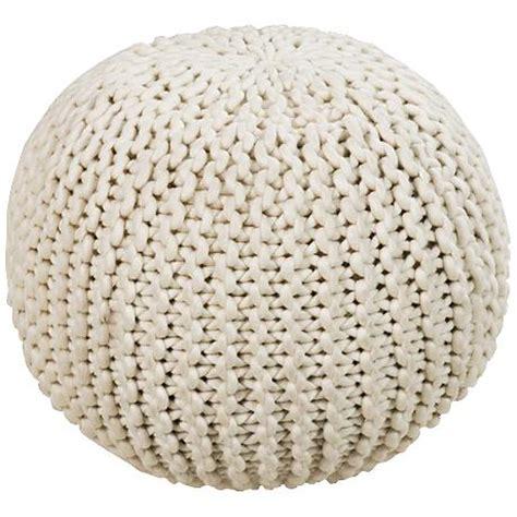 wool pouf ottoman surya knit sesame wool round pouf ottoman 5t197 ls